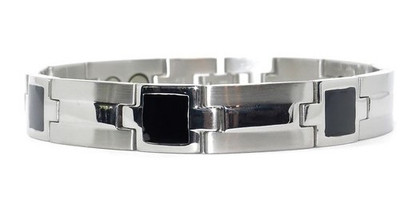Constellation (two 5,000 gauss magnets per link) - Stainless Steel Magnetic Therapy Bracelet