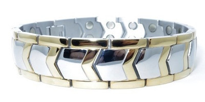 Vitality - Stainless Steel Magnetic Bracelet With Two 5,000 Gauss Magnets Per Link