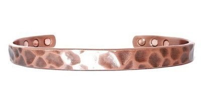 Hammered Copper - Great Looking Magnetic Bracelet