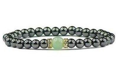 Hematite and Green Aventurine Magnetic Bracelet
