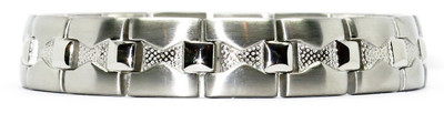 Squares - Silver-Plated  Magnetic Therapy  Bracelet