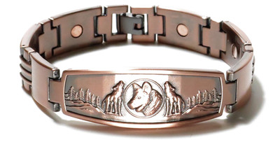 Wolves - Copper Magnetic Therapy Bracelet