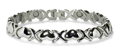 Big Heart -   silver-plated  Magnetic  Bracelet