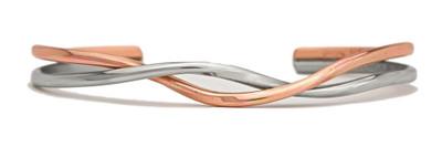 Copper Silver Dance (431) Classic Copper Bracelet