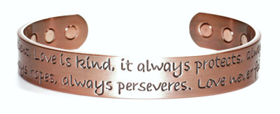 Love  - Copper Magnetic Therapy Bracelet
