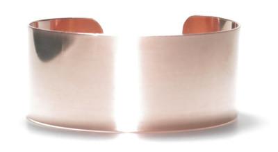 """Solid Copper Cuff Bracelet 1""""- 2"""" wide. Made in USA."""