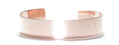 Solid Copper Cuff Bracelet 1/2 inch wide - Made in USA