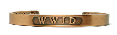 WWJD - Copper Magnetic Therapy Bracelet