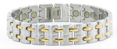 Gold Tone Rye - Titanium Magnetic  Therapy Bracelet