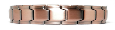 Discovery - Solid Copper  Magnetic Link Bracelet