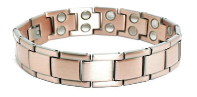 Traveler - Solid Copper  Magnetic Link Bracelet