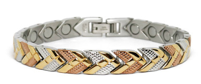 Sun Dance - Stainless Steel  Magnetic  Therapy Bracelet