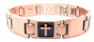 Copper Crosses  - Copper Plated Magnetic Therapy Bracelet