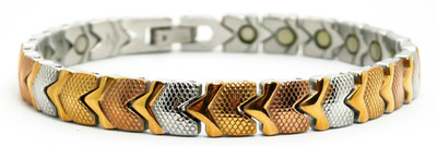 Autumn Hearts -  Stainless Steel Magnetic Therapy  Bracelet