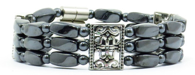 Decora - Hematite Magnetic Therapy Bracelet - Size 8 inches