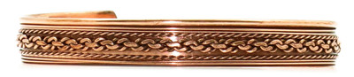 Comfort35 - Solid Copper Cuff Bracelet