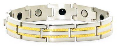 Race Track - Stainless Steel Magnetic Therapy Bracelet