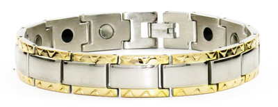 `- Triangles - Stainless Steel Magnetic Therapy  Bracelet