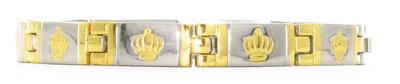 `- Gold Tone Crowns - Magnetic Therapy Bracelet