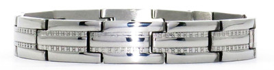 Silver Track - Stainless Steel Magnetic Therapy Bracelet -
