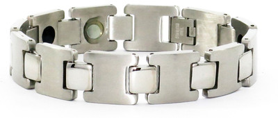 Shiny Squares - Stainless Steel Magnetic  Therapy Bracelet