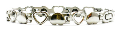Open Hearts - Stainless Steel Magnetic Bracelet
