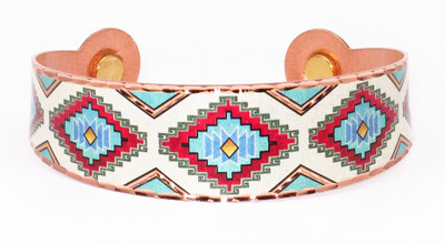 Native Design -  Solid Copper Magnetic Therapy Bracelet