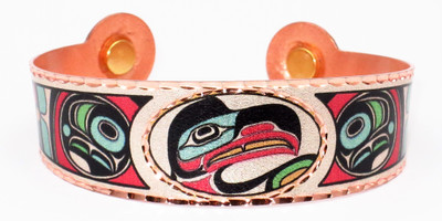 Native Eagle - Solid Copper Magnetic Therapy Bracelet