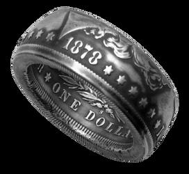 Morgan Dollar Coin Ring Handmade
