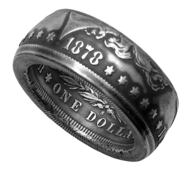 Morgan Dollar Coin Ring Handmade