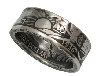 Walking Liberty Half Dollar Coin Ring Handmade