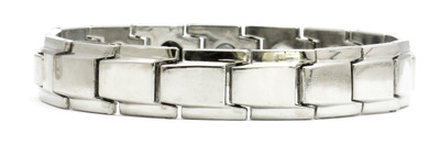 Silver Plated Economy 4-Way Magnetic Therapy Bracelet