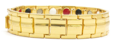 GP-Gold Plated Economy 4-Way Magnetic Therapy Bracelet