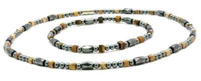 Hematite Plus - Magnetic Necklace and Anklet Set