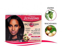 Activilong SUPER/FORT No-Lye Relaxer Kit with Macadamia & Jojoba(Red) 14.3 oz