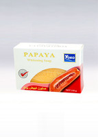 YOKO-058 PAPAYA Bar Soap(White box+Papaya picture) 3.67 oz / 110gr