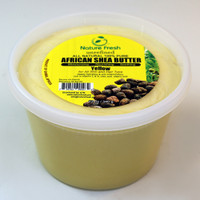 Nature Fresh 100% Pure Shea Butter Yellow (Jar) 12 oz/ 340 g