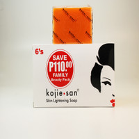 Kojiesan #024 Skin Lightening KOJIC ACID SOAP (White box 6Pcs x 135g / Pack) 28.57oz / 810g