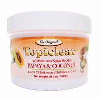 Topiclear Papaya & Coconut  Jar Cream 18oz/ 510g