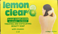 Lemon clear Treating and Exfoliating Beauty Soap 6.3oz/ 180g