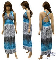 Dress Long Dress (A-174,XL Blue)