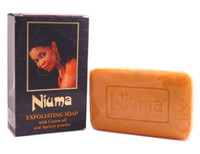 Niuma Exfoliating Soap with Carrot oil and Apricot power 7 oz / 200 g