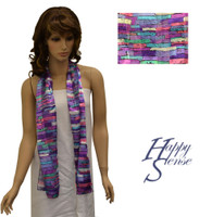Satin Stripe Scarf Long Abstract (SSPO 4317)