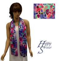 Satin Stripe Scarf Long Abstract (SSPO 4300)