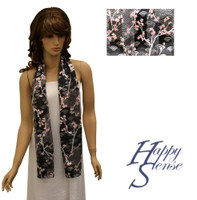 Satin Stripe Scarf Long Cherry Blossom (SSPO 1460)