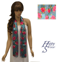 Satin Stripe Scarf Long Flowers (SSPO 1461)