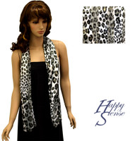 Satin Stripe Scarf Long Leopard (SSPO 8325)
