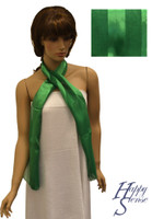 Satin Stripe Scarf Long Solid Color Green (SSSO Green)