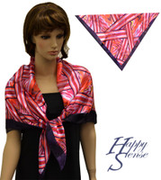 Satin Stripe Scarf Square Abstract-Stripe Pa (SSPS 4152)