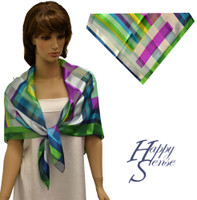 Satin Stripe Scarf Square Abstract-Multi Str (SSPS 4159)